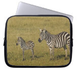 Mother and baby Burchell's Zebras, Equus Computer Sleeves