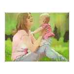 Mother and Baby Canvas Stretched Canvas Print