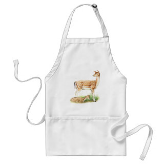 Mother and Baby Deer Adult Apron