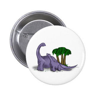 Mother and Baby Dinosaur 2 Inch Round Button