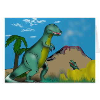 Mother and Baby Dinosaur Greeting Card