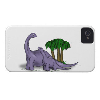 Mother and Baby Dinosaur iPhone 4 Cover