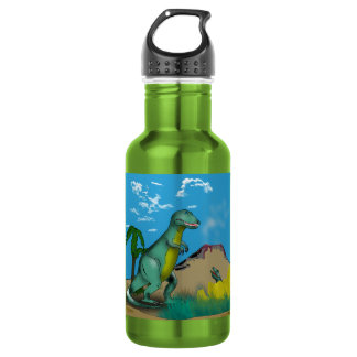 Mother and Baby Dinosaur Water Bottle