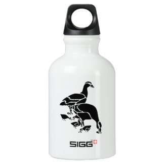 Mother and Baby Ducks Aluminum Water Bottle