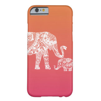 mother and baby elephant barely there iPhone 6 case