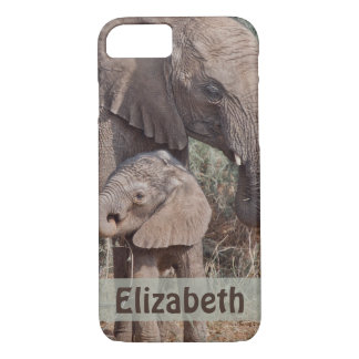 Mother and Baby Elephant iPhone 8/7 Case