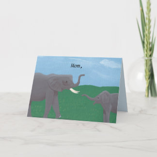 Mother and baby elephant Mother's Day Cards