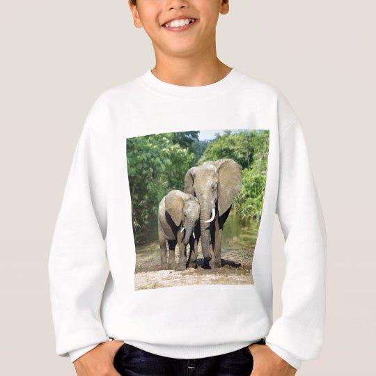 Mother And Baby Elephant Sweatshirt