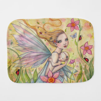 Mother and Baby Fairy Fantasy Art Illustration Burp Cloth