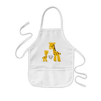 Mother and Baby Giraffe Apron