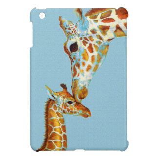 mother and baby giraffe ipad mini case