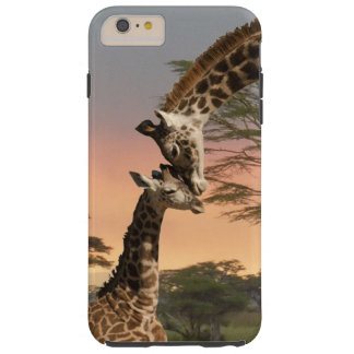 Mother and Baby Giraffe iPhone 6 Plus Tough Case Tough iPhone 6 Plus Case