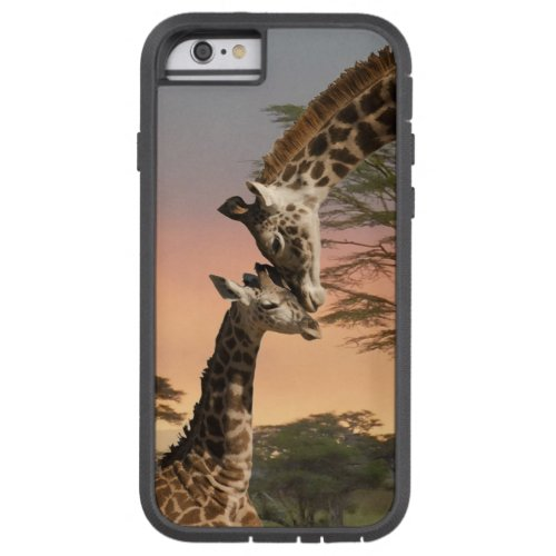 Mother and Baby Giraffe, iPhone 6, Tough Xtreme Phone Case