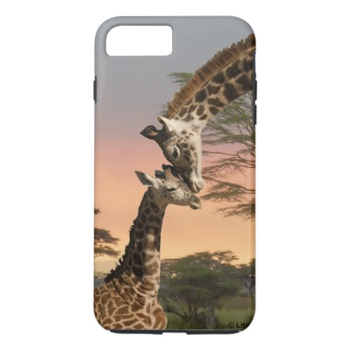 Mother and Baby Giraffe iPhone 7 Plus Tough Case Phone Case