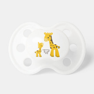 Mother and Baby Giraffe Pacifier