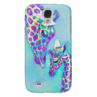 mother and baby giraffe phone case