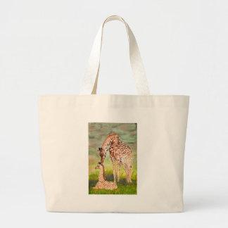 Mother and Baby Giraffes Jumbo Tote Bag