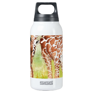Mother and Baby Giraffes Insulated Water Bottle