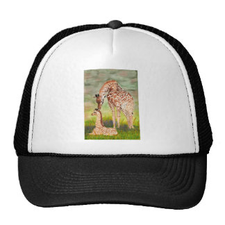 Mother and Baby Giraffes Mesh Hat