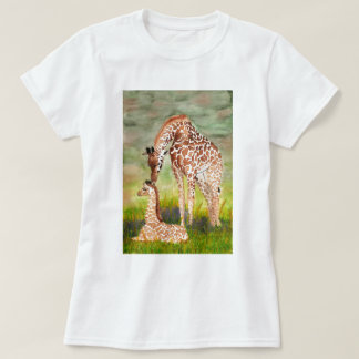 Mother and Baby Giraffes Shirt