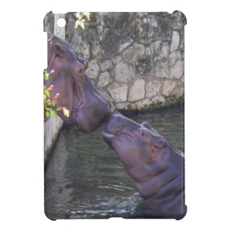 Mother and Baby Hippo Greeting Cover For The iPad Mini