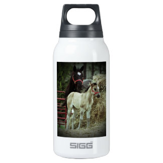 Mother and baby horse insulated water bottle