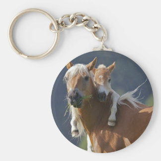 Mother and Baby Horse Keychain