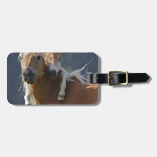 Mother and Baby Horse Luggage Tag