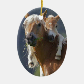 Mother and Baby Horse Ornament