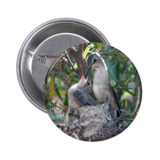 Mother And Baby Hummingbird Pins