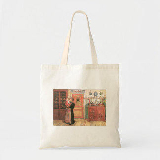Mother and Baby in the Kitchen Tote Bag