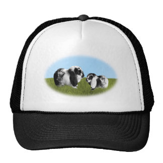 Mother and Baby Lop Eared Bunnies Trucker Hat