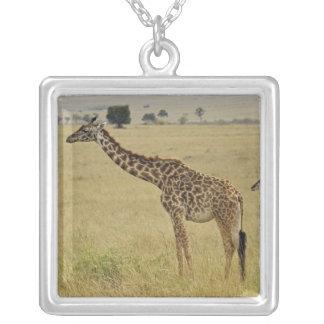 Mother and baby Masai Giraffe, Giraffa 2 Necklaces