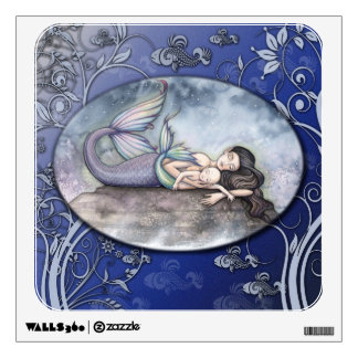 Mother and Baby Mermaids Fantasy Art Wall Decal
