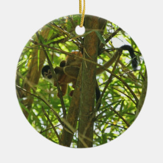 Mother and Baby Monkey Christmas Tree Ornaments