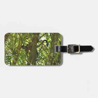 Mother and Baby Monkey Luggage Tag