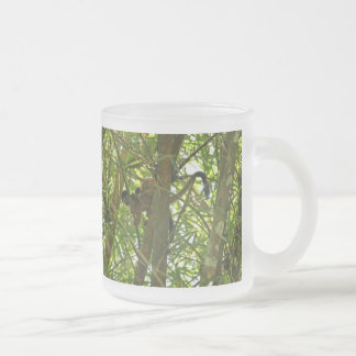 Mother and Baby Monkey 10 Oz Frosted Glass Coffee Mug