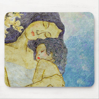 Mother and baby mouse pad