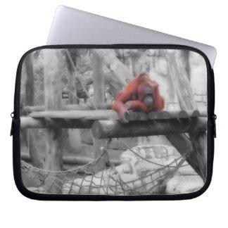 Mother and Baby Orangutan Laptop Sleeve