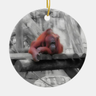 Mother and Baby Orangutan Ornaments