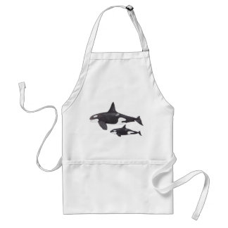 Mother and Baby Orca Aprons