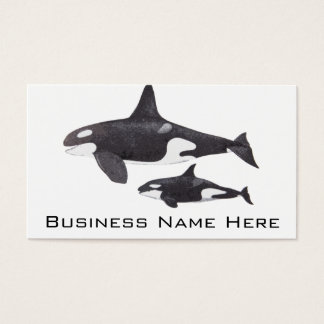 Mother and Baby Orca Business Card