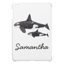 Mother and Baby Orca iPad Mini Cover