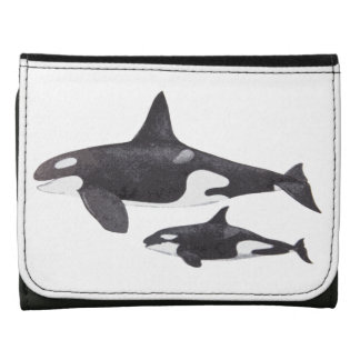 Mother and Baby Orca Wallet