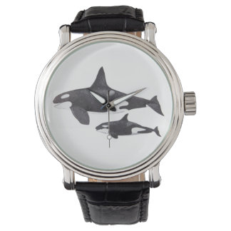 Mother and Baby Orca Wrist Watch