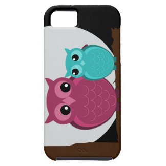 Mother and Baby Owl on Tree Branch iPhone 5 Covers