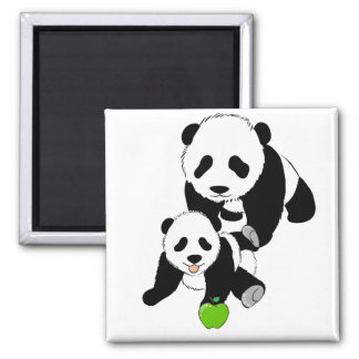Mother and Baby Panda Bears Magnet