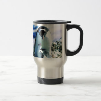 Mother And Baby Penguin Travel Mug