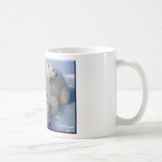 Mother and Baby Polar Bears Coffee Mugs