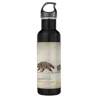 Mother and Baby Raccoon Water Bottle
